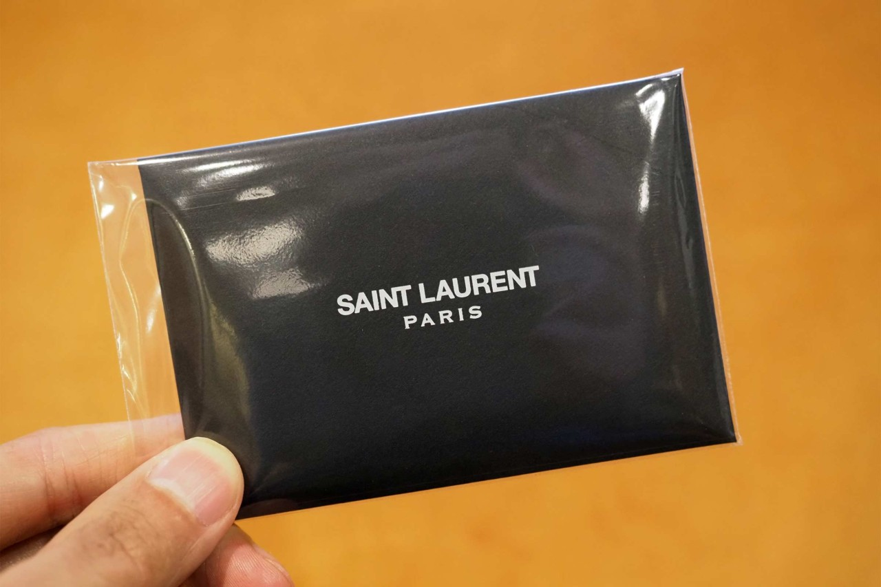 財布,サンローラン,メンズ,レディース,三つ折り,ミニマル,小さい,コンパクト,ギャランティカード