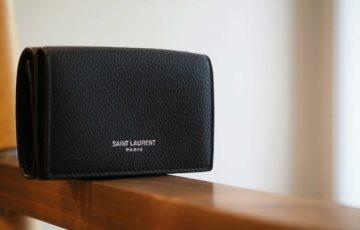 財布,サンローラン,メンズ,レディース,三つ折り,ミニマル,小さい,コンパクト,ミニ財布