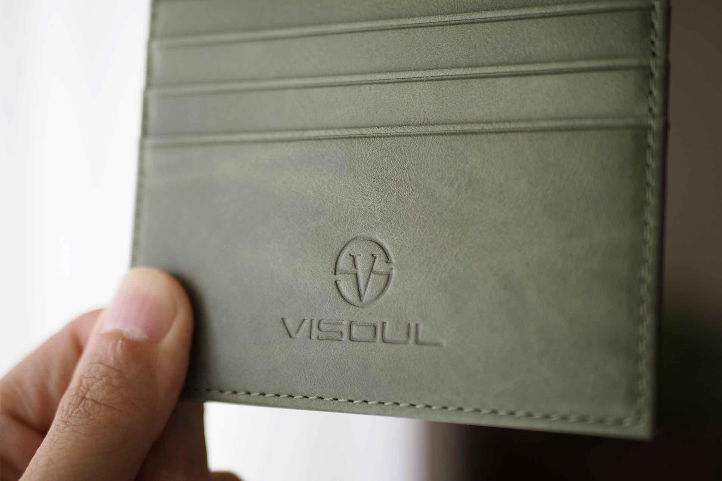 カードケース,VISOUL,小さい,薄い,安い,コンパクト,本革,牛皮,大人,シンプル,グリーン
