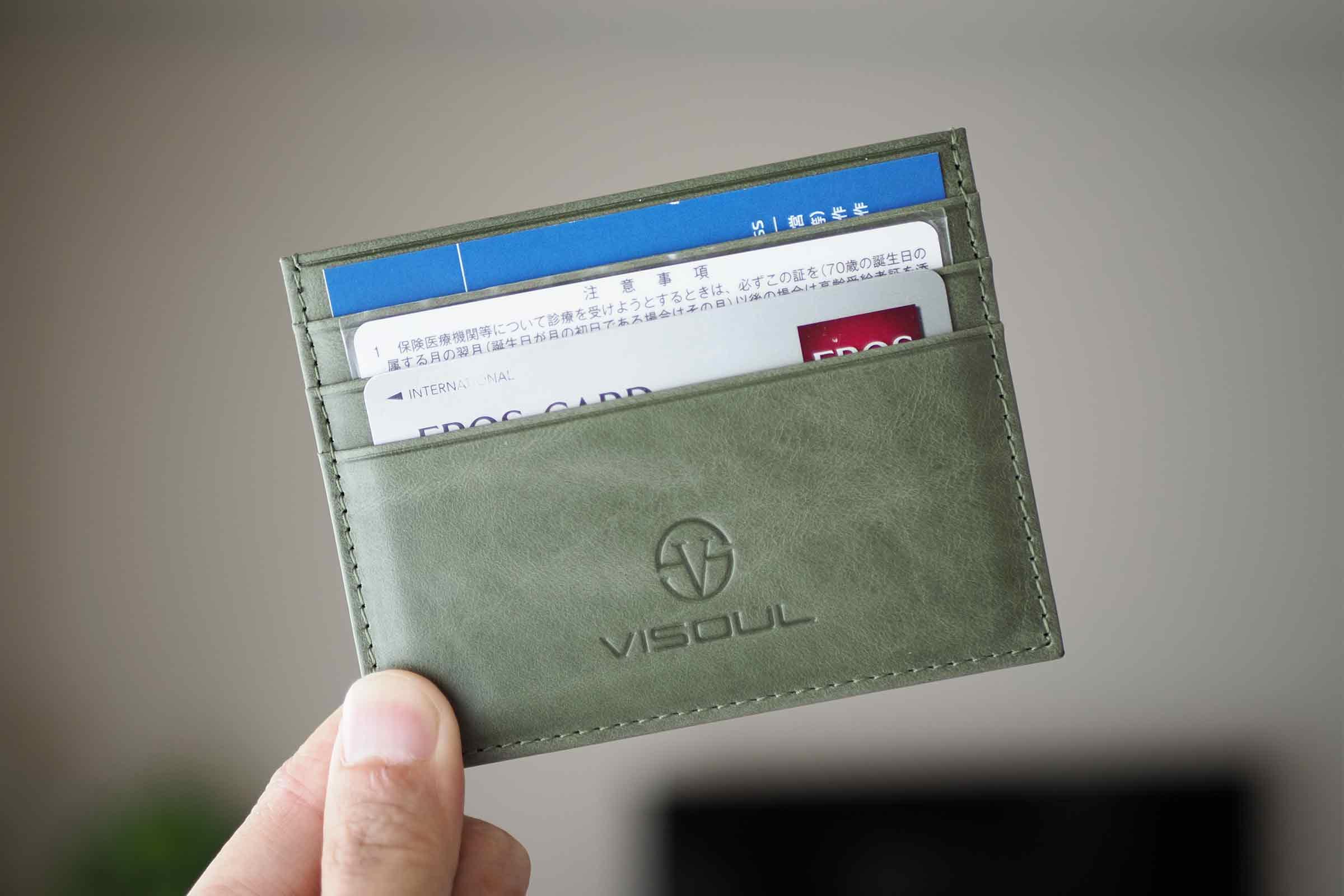 カードケース,VISOUL,小さい,薄い,安い,コンパクト,本革,牛皮,大人,シンプル,免許証