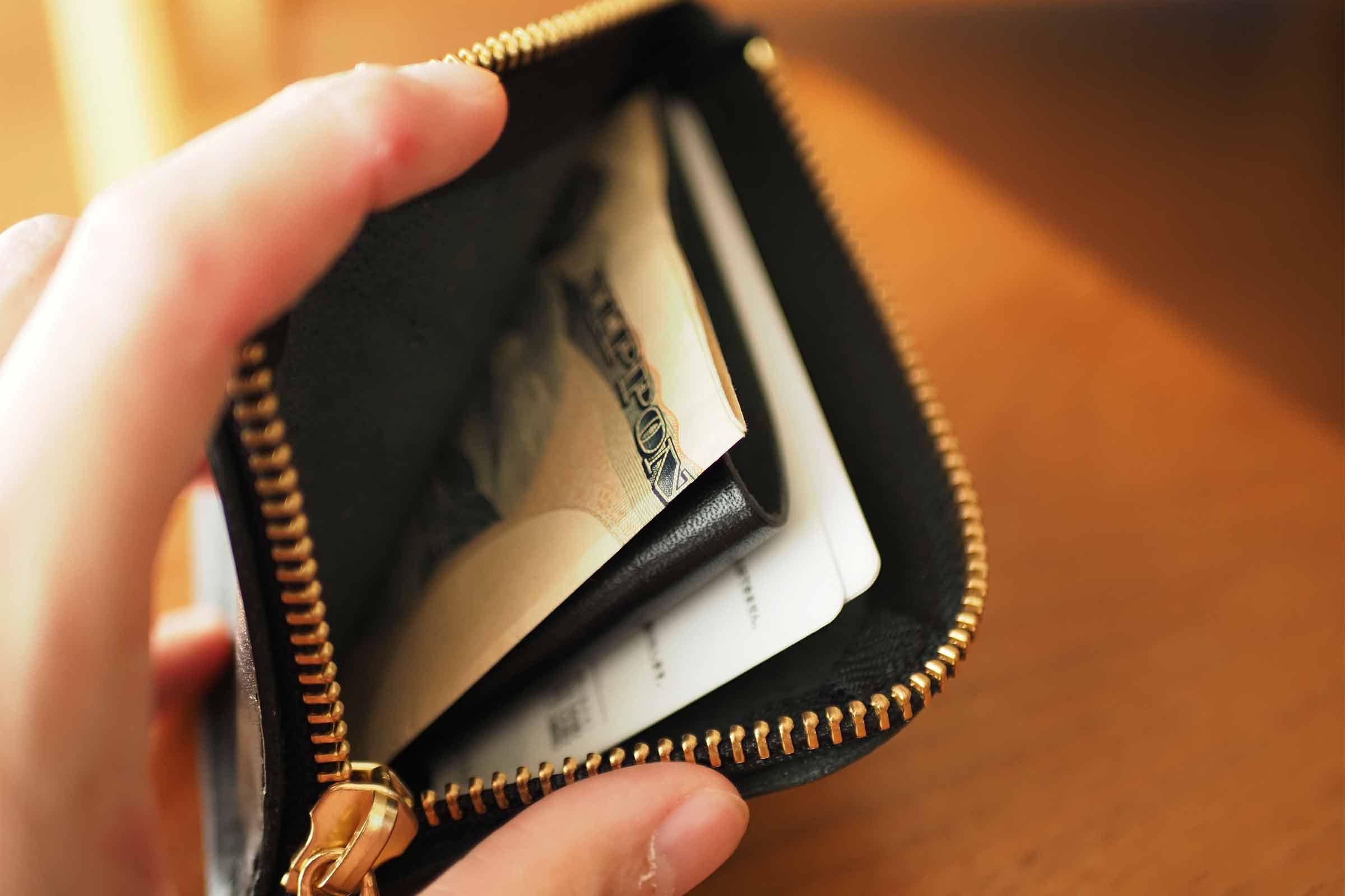 財布,ミニ財布,メンズ,栃木レザー,本革,小さい,薄い,お札