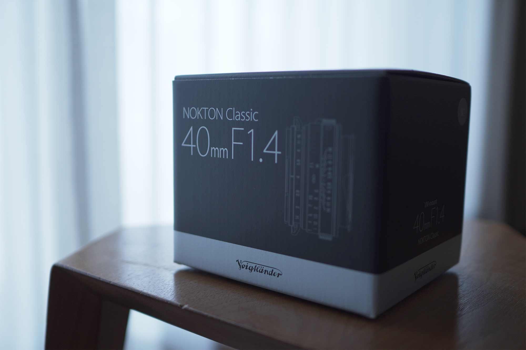 フォクトレンダー,カメラ,レンズ,クラシック,オールドレンズ,40mm,f1.4,外箱