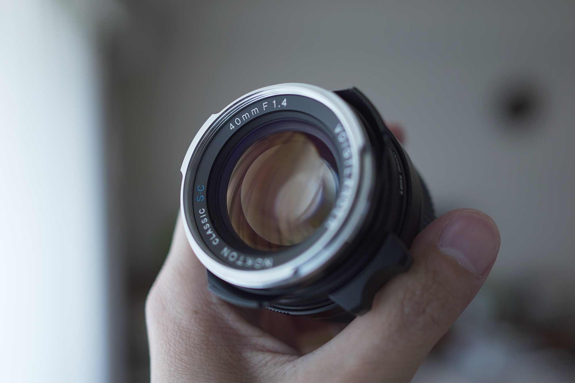 フォクトレンダー,カメラ,レンズ,クラシック,オールドレンズ,40mm,f1.4,前玉