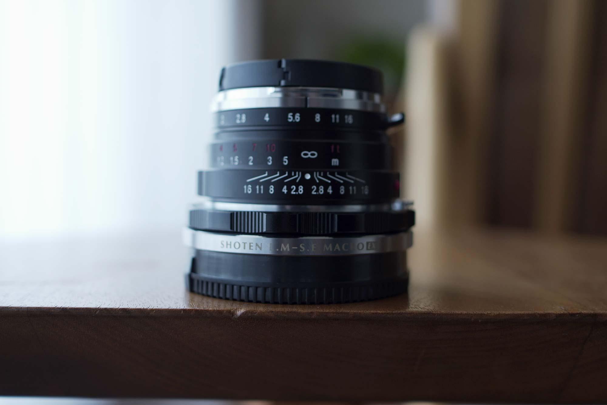 焦点工房,マウントアダプター,ヘリコイド,フォクトレンダー,pro,プロ,寄れる,最短撮影距離,レトロ