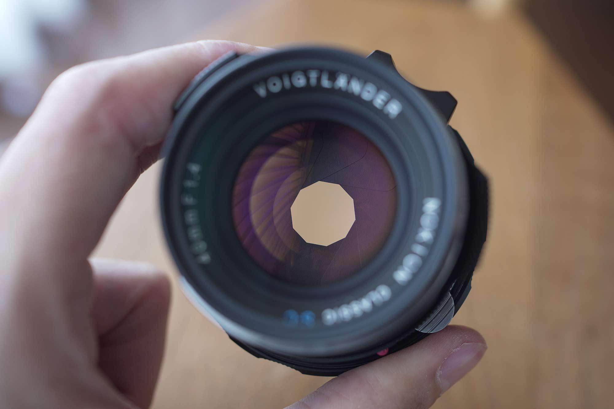フォクトレンダー,カメラ,レンズ,クラシック,オールドレンズ,40mm,f1.4,絞り