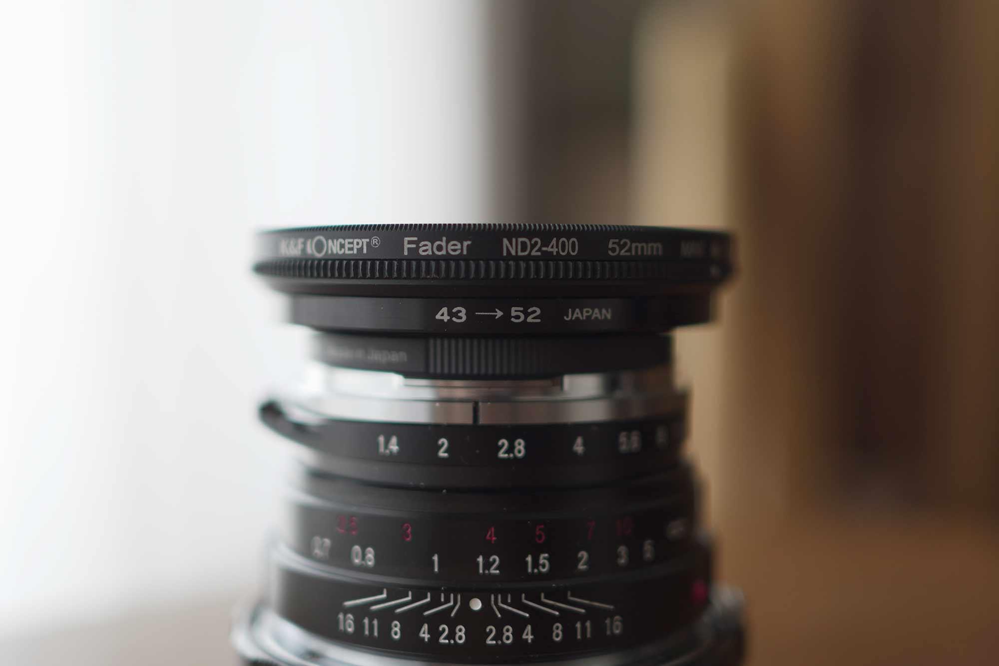 フォクトレンダー,カメラ,レンズ,クラシック,オールドレンズ,40mm,f1.4,ndフィルター