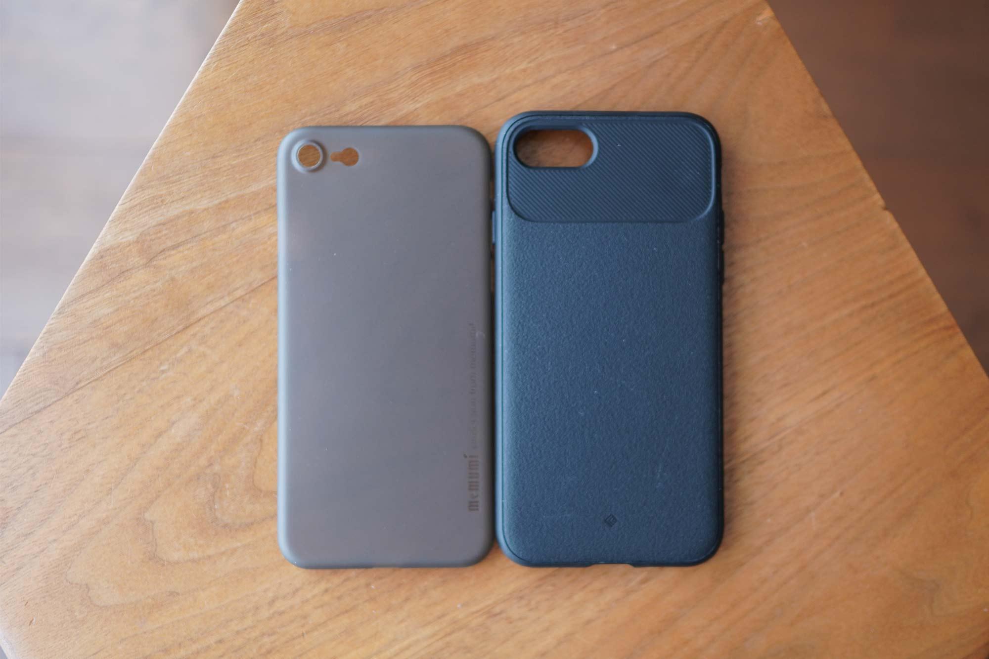 iPhone SE,iPhone 8,iPhone7,ケース,最薄型,最軽量,memumi,比較