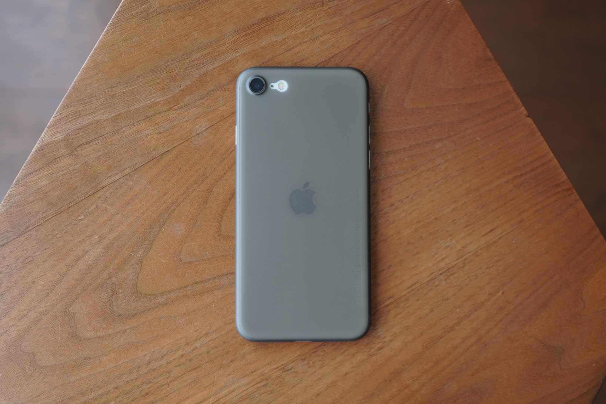 iPhone SE,iPhone 8,iPhone7,ケース,最薄型,最軽量,memumi,Appleマーク