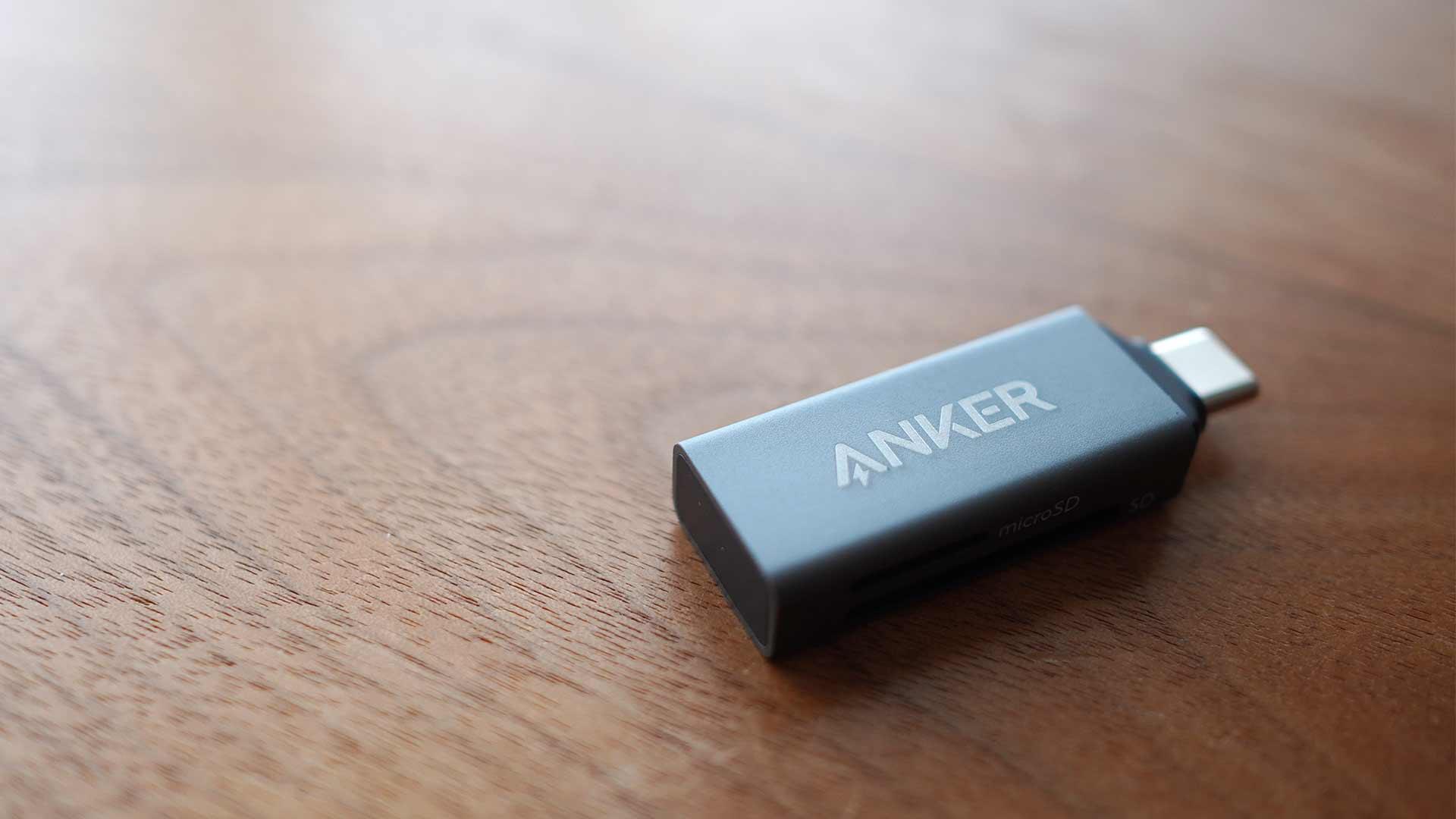 SDカードリーダー,メモリーカードリーダー,Anker,小さい,microsd,sd,お洒落
