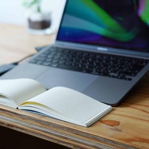 ノート,テレワーク,会議,grid,グリッド,PC用ノート,横型,狭い