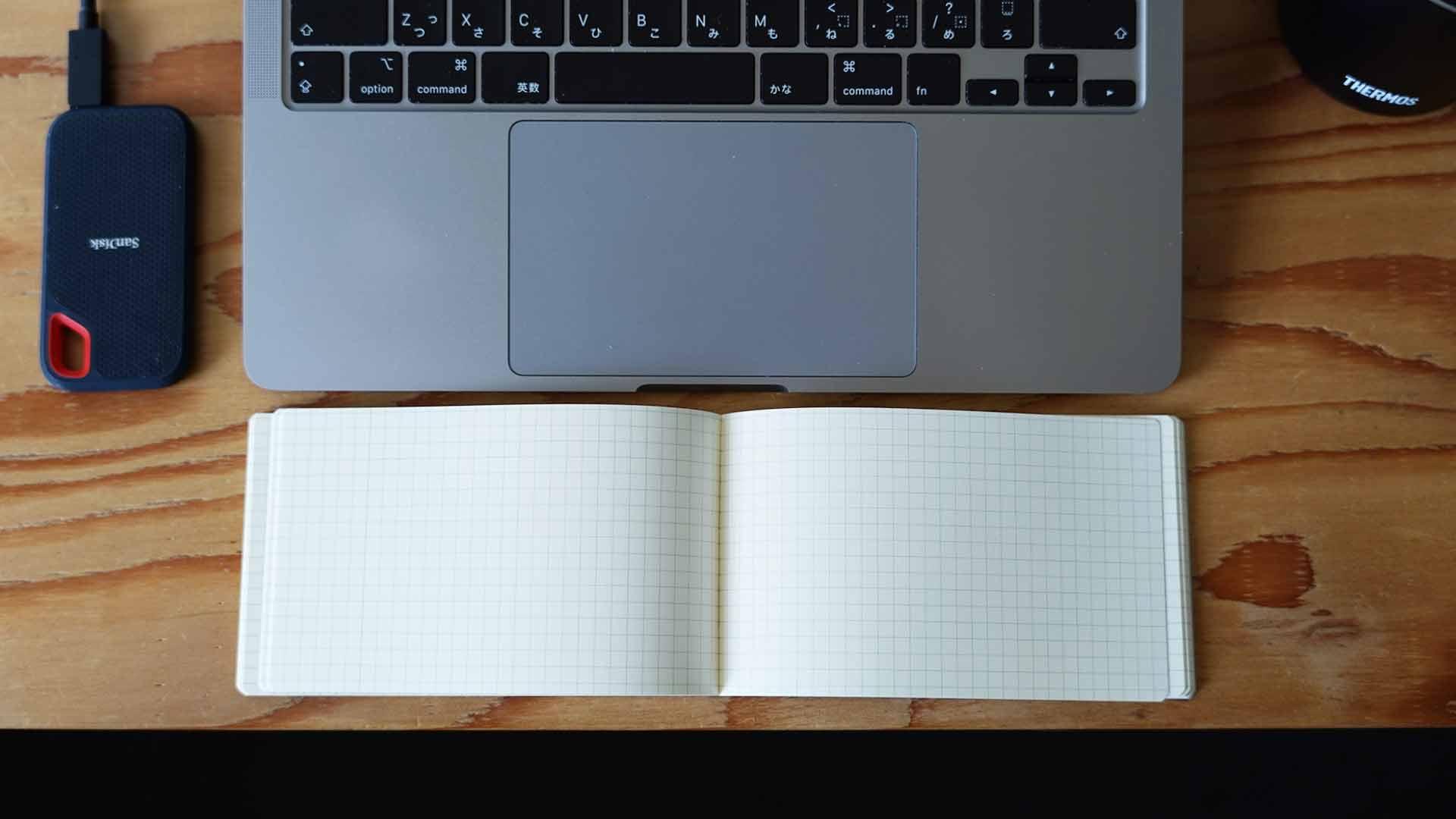 ノート,テレワーク,会議,grid,グリッド,PC用ノート,横型,コンパクト