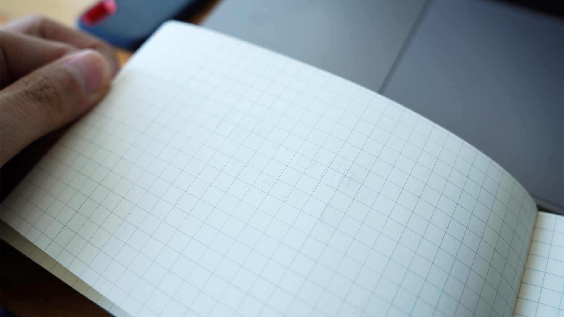 ノート,テレワーク,会議,grid,グリッド,PC用ノート,横型,裏写り