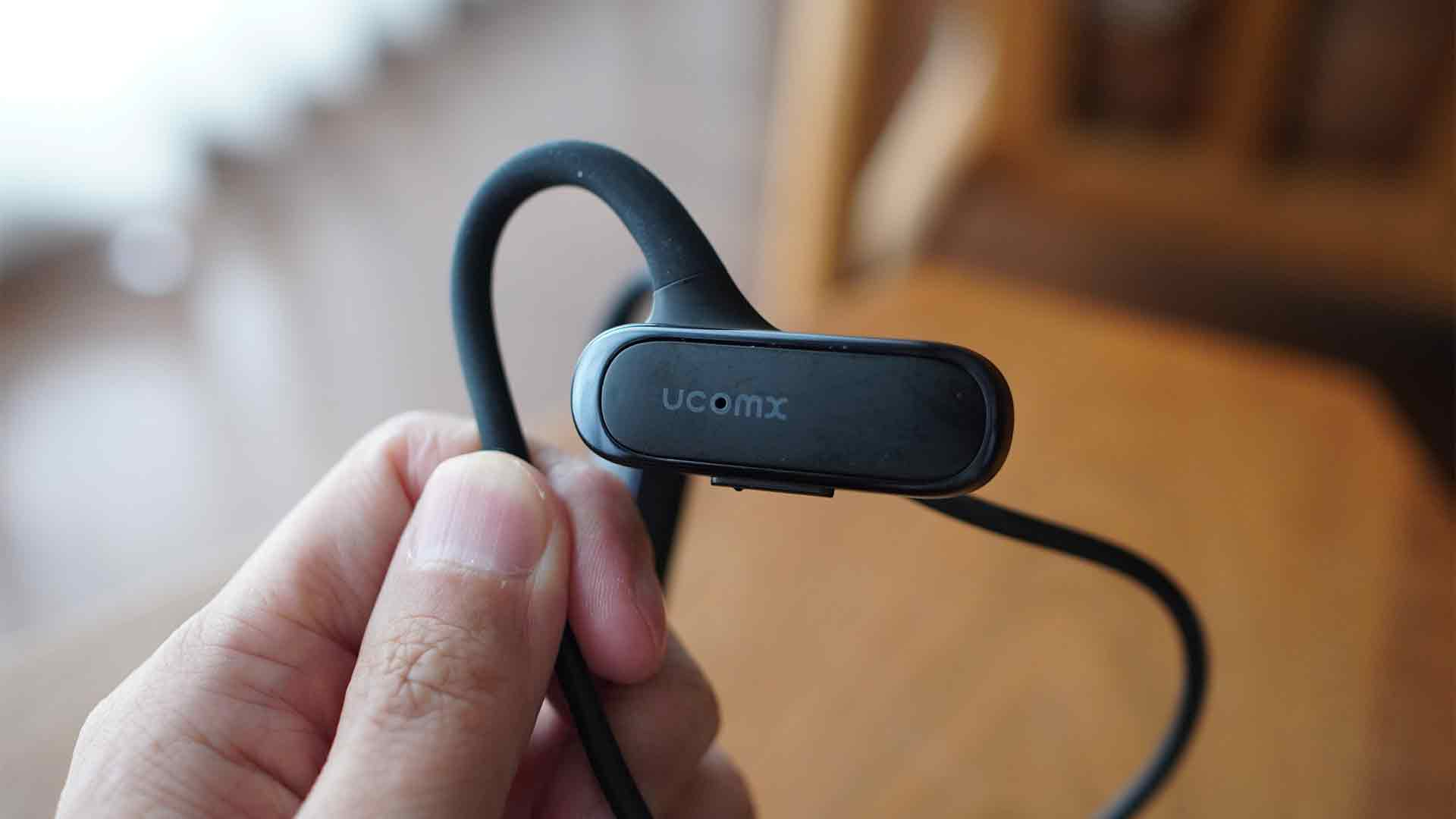 ucomx,bluetooth,ワイヤレスイヤホン,耳を塞がない,耳掛け式,耳が痛くならない,安い,ブルートゥース,防水,スポーツ,物理ボタン