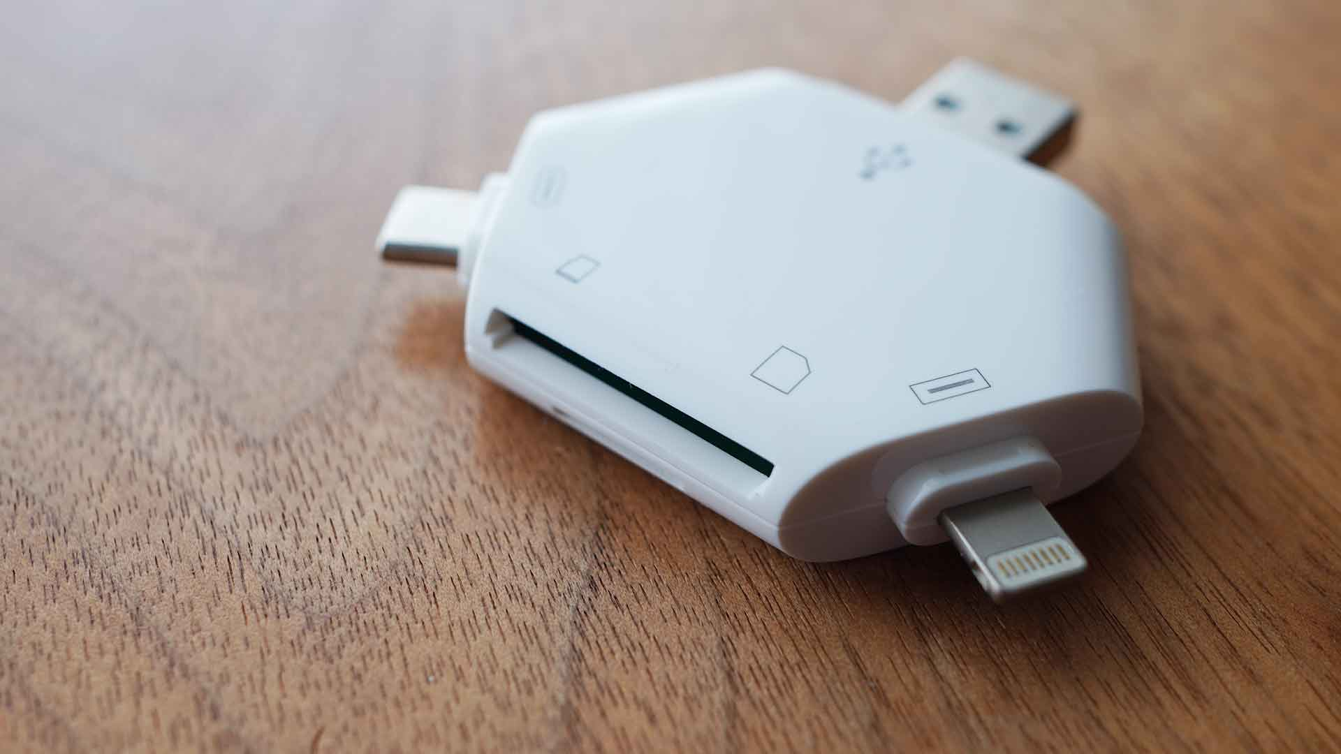 マルチカードリーダー,SDカード,USB,micro USB,Lightning,