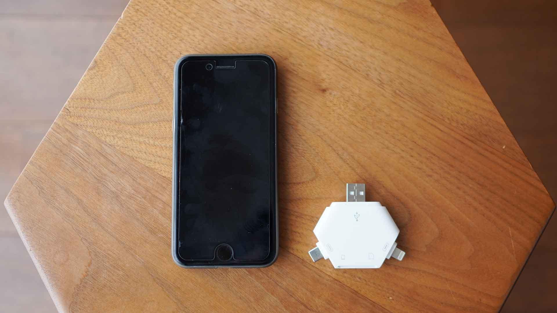 マルチカードリーダー,SDカード,USB,micro USB,Lightning,コンパクト