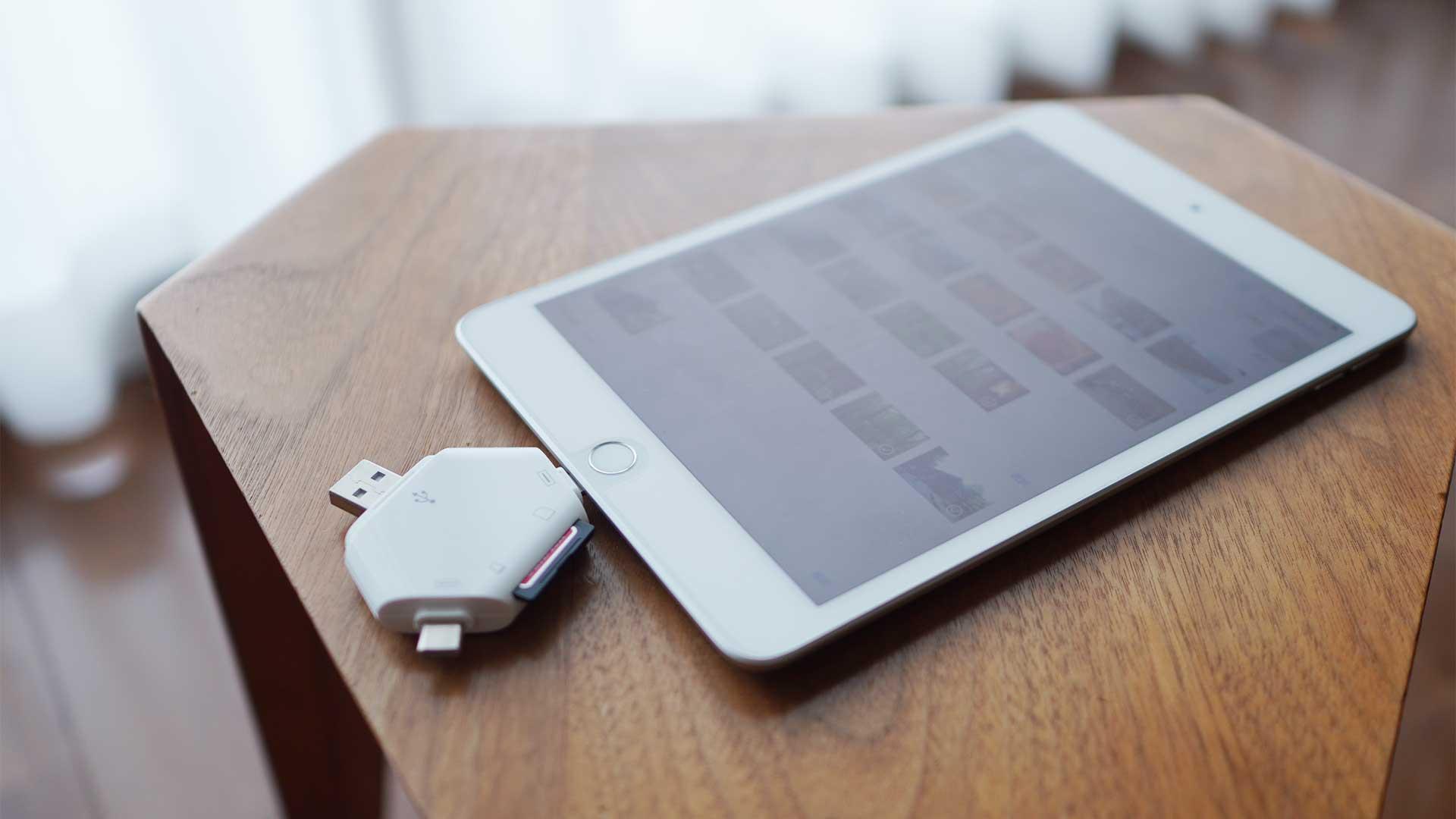 マルチカードリーダー,SDカード,USB,micro USB,Lightning,いつでも