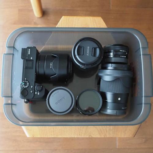 HAKUBA,ハクバ,カメラ,収納ボックス,防湿,入れてみた,レビュー