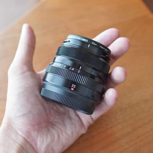 フジノン,23mm,f2,小さい,軽い,コンパクト